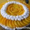 Őszibarackos joghurt-torta