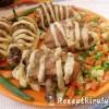 Börtönbe zárt csirkecombok párolt zöldséggel