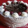 Csokoládés fekete erdő torta
