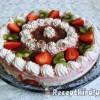 Epres-tejszínes- joghurtos torta