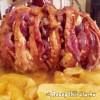 Sertéskaraj legyező formában sütve