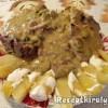 Sertéskaraj uborkás hagymamártással