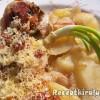 Baconbe tekert töltött krumpli és gomba sajttal