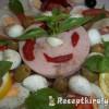 Bruschetta pizzasonkával tojással mozzarellával