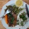 Fehérboros heringfilé zöldségekkel, petrezselymes chilis rizzsel