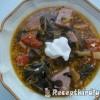 Fehérboros tejszínes karalábélevél leves sonkával