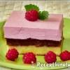 Fehércsokoládés málnahabos brownie