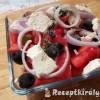 Görög saláta dinnyével fetával olívabogyóval