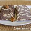 Kókuszos keksz szalámi