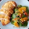 Karibi csirke salátával