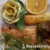 Pangasius grillezve zöldségekkel kapros mártással