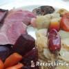 Sörös sült bajor csülök zöldségekkel boros szalonnás káposztával