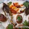 Sült zöldspárga sonkával tükörtojással fehérboros tartárral