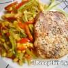 Sertésborda színes zöldségraguval