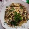 Spagetti baconnel zöldspárgával és sajttal