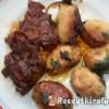 Vörösboros sült tarja petrezselymes újkrumplival