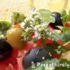 Vodkás görögdinnyesaláta mozzarellával olívabogyókkal