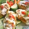 Zöldséges krumpli csónakok