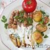 Baconbe tekert spárga újkrumplival