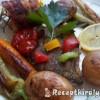 Busa szelet zöldségekkel grillezve
