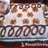 Diós csokis süti