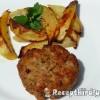 Olaszos húspogácsa sütőben sült krumplival