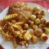 Rántott csirkemell krumplikrokettel