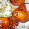 Saláta fetával karamelizált brandyvel flambirozott körtével