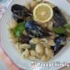 Fekete kagyló tésztával