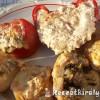 Túróval töltött paprika paradicsom krumpli