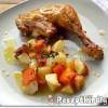 Csirkecomb krumplival és sütőtökkel
