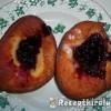 Farsangi fánk rumos eper dzsemmel