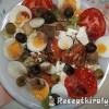 Saláta tojással szardinellával fetával