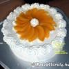Tejszínes csokis vanília krémes torta