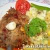 Vörösboros resztelt borjúmáj sós krumplival
