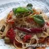 Lecsó spagettivel