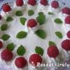 Sütés nélküli málna torta
