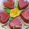Valentin napi szívecskés desszert