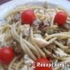 Chilis gombás spagetti kecskesajttal