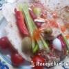 Hummusz zöldségekkel pitában