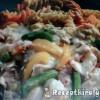 Tejszínes csirke színes tésztával