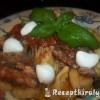 Sajtos tortellini paradicsomos szardíniával
