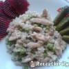 Sült csirke falatkák rizi-bizivel
