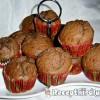 Banános kókuszos kakaós muffin