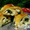 Spenótos fetás csiga - túrós leveles tésztából