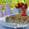 Vaníliakrémes eper-rebarbara pite zabpelyhes morzsával