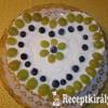 Szőlős mascarpone torta