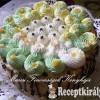 Négykrémes torta