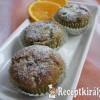 Narancsos-mákos muffin
