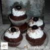 Fekete erdő muffin